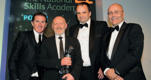 Ronnie Moore receives his Lifetime Achievement award