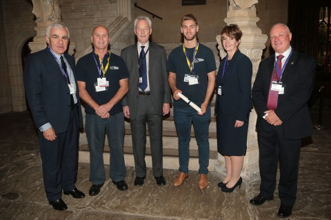 Basil Scarsella, Mick Shannon, Lord Aberdare, Connor Watkins, Dr Jacqueline Hall & EUIAS' Chair Murdo Allan