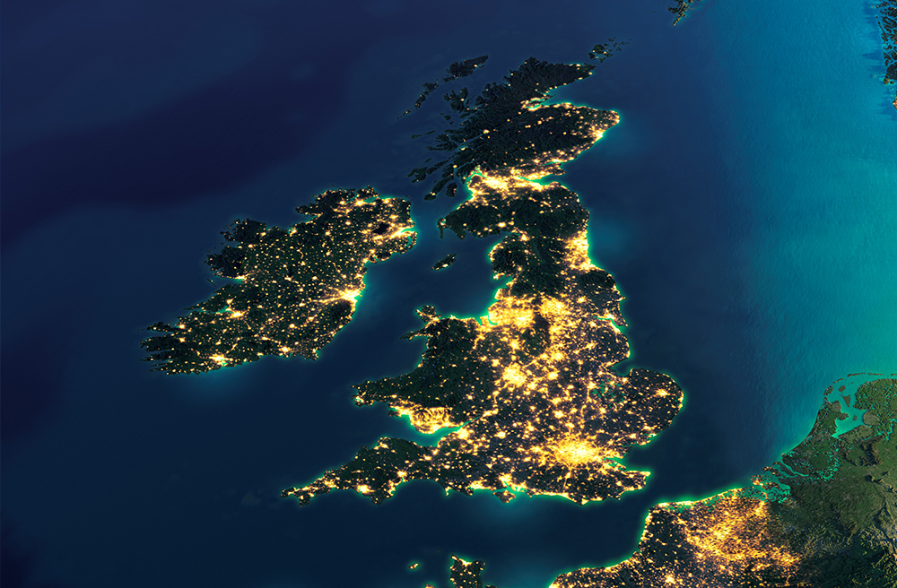Satellite Map Uk Our Industries UK satellite map   Energy & Utility Skills